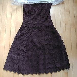 Shoshanna chocolate brown strapless dress